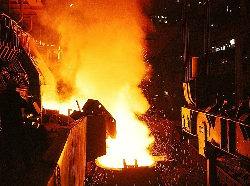 Steel mill photo